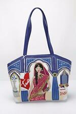 Braccialini Tua Cartoline Mujer Azul Maharani Indio Bolsa Bolso de Mano Nuevo