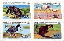 Chile 1985 #1138-41 Animales en Peligro de Extincion MNH
