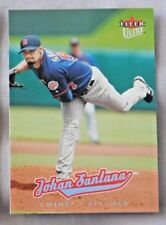 2005 Fleer Ultra Johan Santana Twins Baseball Card