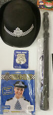 Full Police Fancy Dress Accessories Kit - Inc. Hat - Truncheon - Scarf - Badge