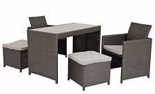 edle Rattan Lounge Sitzgruppe DORA für Balkon Terrasse klein verstaubar 864507