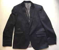 "IZAC Blazer veste de costume  avec effets ""marine"" blason liserés simili cuir L"