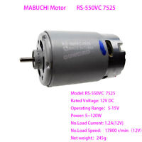 Mabuchi Motor RS-550VC-7525 12V High Speed Large Power for Electric Tools DIY EL