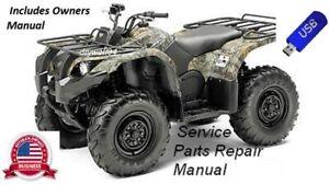 2007 08 09 Yamaha Grizzly 550FI/700FI OEM Owners Manual & Service Repair Manual