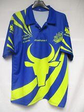 Maillot rugby RC MIRAMAS XV porté n°14 MADSPORT shirt jersey bleu L