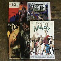 DC Vertigo Lot of TPB Unready 1st Prints: Winter's Edge, Destiny, Book of Magic