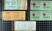 1979 Lot Disneyland ticket coupon book booklet original Disney 70's Vintage old