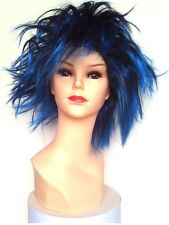 Parrucca Economica Ciuffone Glam Sparata Death Mask Blu - Blue Glam Wig