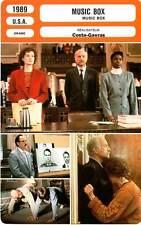 FICHE CINEMA : MUSIC BOX - Lange,Mueller-Stahl,Moffat,Costa-Gavras 1989