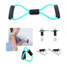 Original Green Sport Fitness Yoga 8 Shape Pull Rope Tube Equipment Tool Gym New