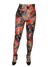 LEGGING S  -  Drapeaux USA -  multicolore bleu rouge blanc - T. L / XL