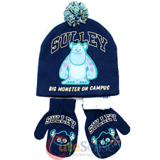 Monsters University Sulley Mitten Gloves and Beanie Set w/Furry Ball Monster U