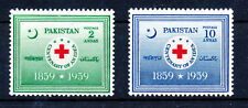 PAKISTAN 1959 RED CROSS BLOCKS OF 4 MNH