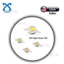 10Pcs 3Watt High Power LED Chip Beads Buld Warm White 3000-3500k SMD Light Lamp