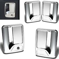For 2008-2016 Ford F250 F350 F450 Chrome 4 Door Handle Covers W/O PSKH