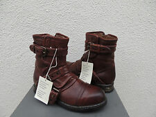 UGG COLLECTION ELISABETA BRANDY LEATHER/ SHEARLING BOOTS, US 5/ EUR 36 ~ NIB