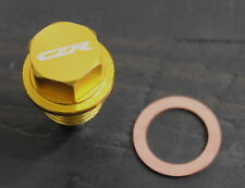 CZRRACING MAGNETIC OIL PAN DRAIN PLUG BOLT KIT W/WASHER GOLD For VOLKSWAGEN VW