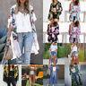 Women Ladies Floral Beach Kimono Blouse Chiffon Cardigan Shawl Cover up Tops NEW