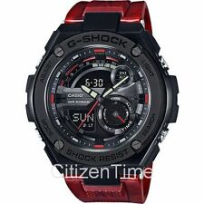 -NEW- Casio G-Shock G-Steel Black / Red Watch GST210M-4A