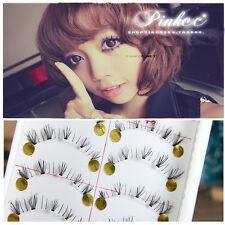 10 Pair Lower Fake Eyelashes Natural Fake Thick Eye Lashes Makeup Japanese Style