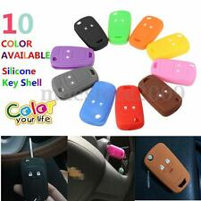 2 Botton Silicone Flip Key Shell Cover For VAUXHALL ASTRA OPEL CORSA INSIGNIA