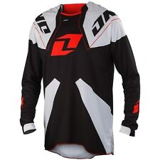 NEW ONE INDUSTRIES GAMMA BLACK WHITE RED JERSEY MX ATV BMX MENS MEDIUM M