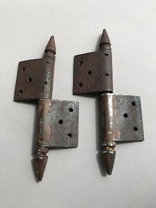 4 Window hinges forged iron 19 - 20th century