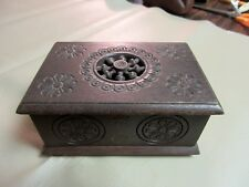 Vintage French Souvenir Wooden Trinket Box-Jewelry-Paris Brocante