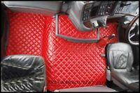 SCANIA 4 FLOOR SET LEATHERETTE IN RED [TRUCK PARTS & ACCESSORIES]