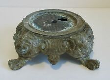 Vintage Cast Metal Table Lamp Base Ornate Footed Steampunk Shabby Chic Victorian
