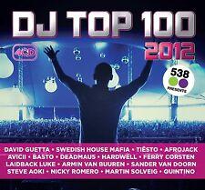 DJ TOP 100 2012 David Guetta/Avicii/Tiesto/Afrojack/Bob Sinclar/+ 4 CD NUOVO