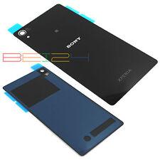 Für Sony Xperia Z2 D6502 D6503 L50W Akkudeckel Backcover Rück Schwarz + KLEBER