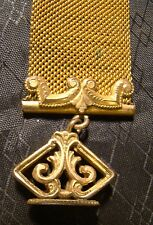 Antique Art Nouveau Gold Mesh Stamp Watch Fob