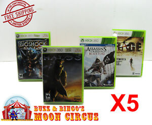 5X XBOX 360 CIB GAME - CLEAR PLASTIC PROTECTIVE BOX PROTECTOR CASE SLEEVE