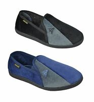 Dunlop  Mens Velour Twin Gusset Slippers UK 7 TO 11