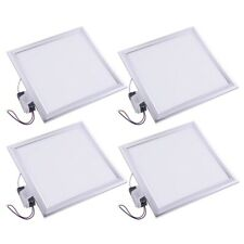 Delight® 4 Pcs 12W Square Recessed Led Panel Light Ceiling Fix Down Ultra-thin