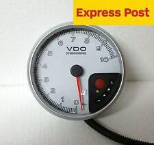 VDO  PRT 110mm TACHO-METER 10,000 RPM WHITE ADJ SHIFT LIGHT