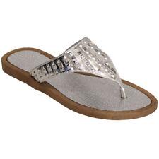 Sandalias y chanclas de mujer de color principal plata sintético talla 36