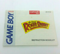 Who Framed Rodger Rabbit Game Boy Manual Only Instruction Book Nintendo Capcom