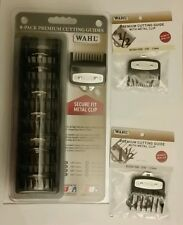 Wahl Professional 8 Pack Premium Hair Clipper Cutting Guide Set Caddy 1/16 1 1/2
