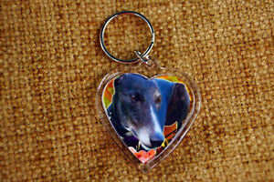 Greyhound Gift Keyring Black Greyhound Key Ring, % charity, Mothers Day Gift