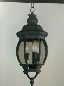 "Trans Globe  4066 BK  Rochefort 25"" Outdoor Hanging Lantern, 3 LIGHT (#41E"