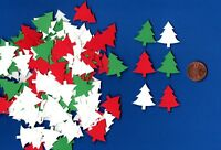 "120 Christmas Tree Confetti Die Cuts 1"" You Choose Color(s)- Christmas Die Cits"