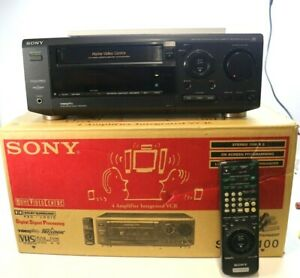 SONY SLV-AV100 4 Channel Amplifier with Integrated Hi-Fi Stereo VCR MINT BOXED