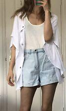 Melissa Odabash White Crochet Ipen Summer Cadigan Kimono One Size Never Used