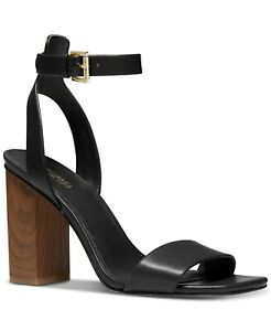 Michael Kors Petra Ankle-Strap Sandals Black Size 6.5