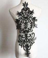 Big Bridal Lace Applique Embroidery Motif Trims Applique for Wedding Dress White