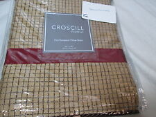 NEW Croscill Home PONDERA Cafe Euro European Pillow Sham  26x26 ~ Gold/Burgundy