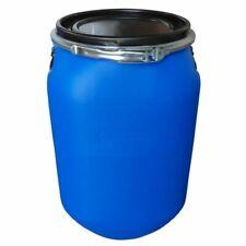 Fusto in plastica a bocca larga, quadrato, 60 Lt Omologato ONU/ADR. Colore Blu
