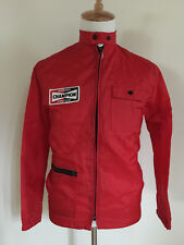 Vintage 1970's Nylon Racing Jacket Champion Spark Plugs Jacket Men Size Small!